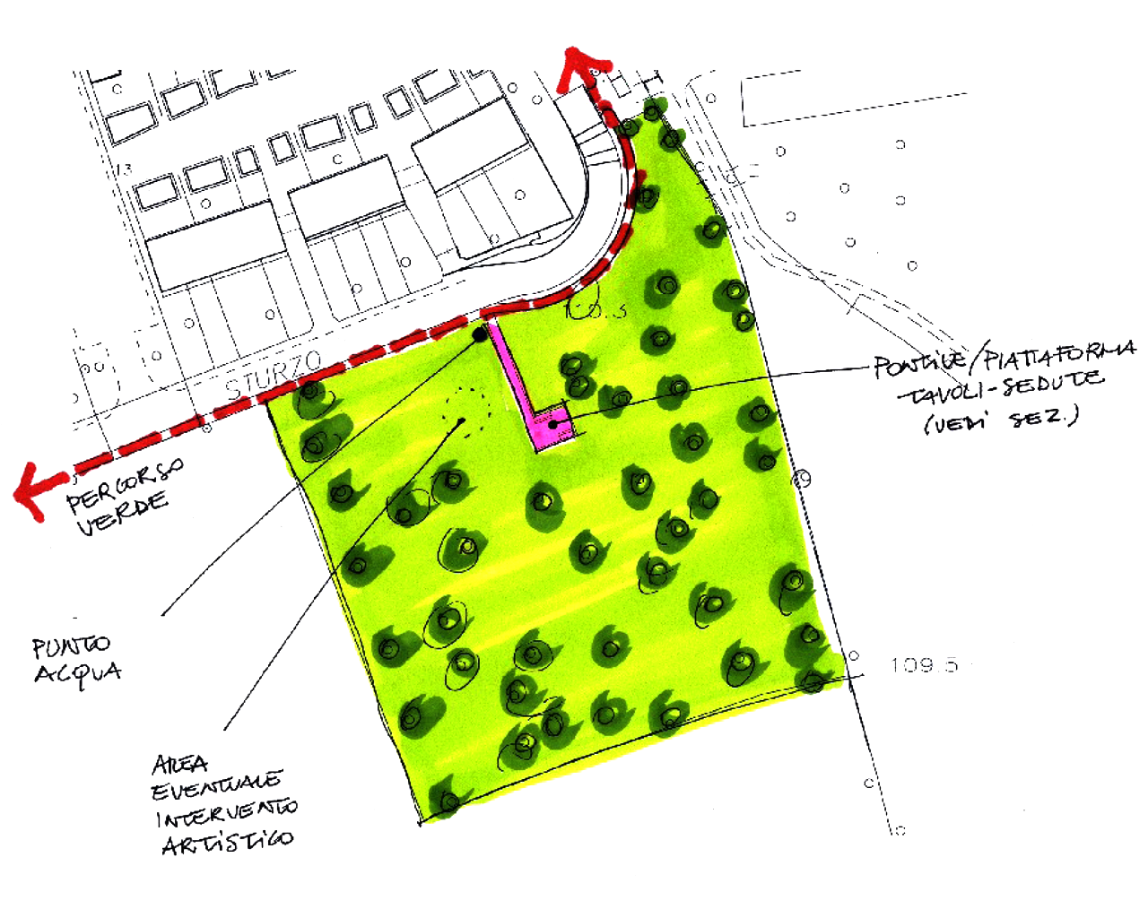 Planimetria dell'area - Biotopo - Liscate