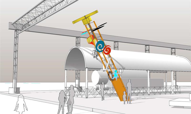 Renderi del progetto: Il giardino delle macchine